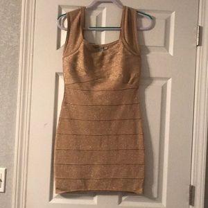 Forever 21 Gold bodycon dress